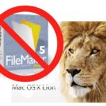 FileMaker and Mac OS X Lion