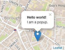 Map popups