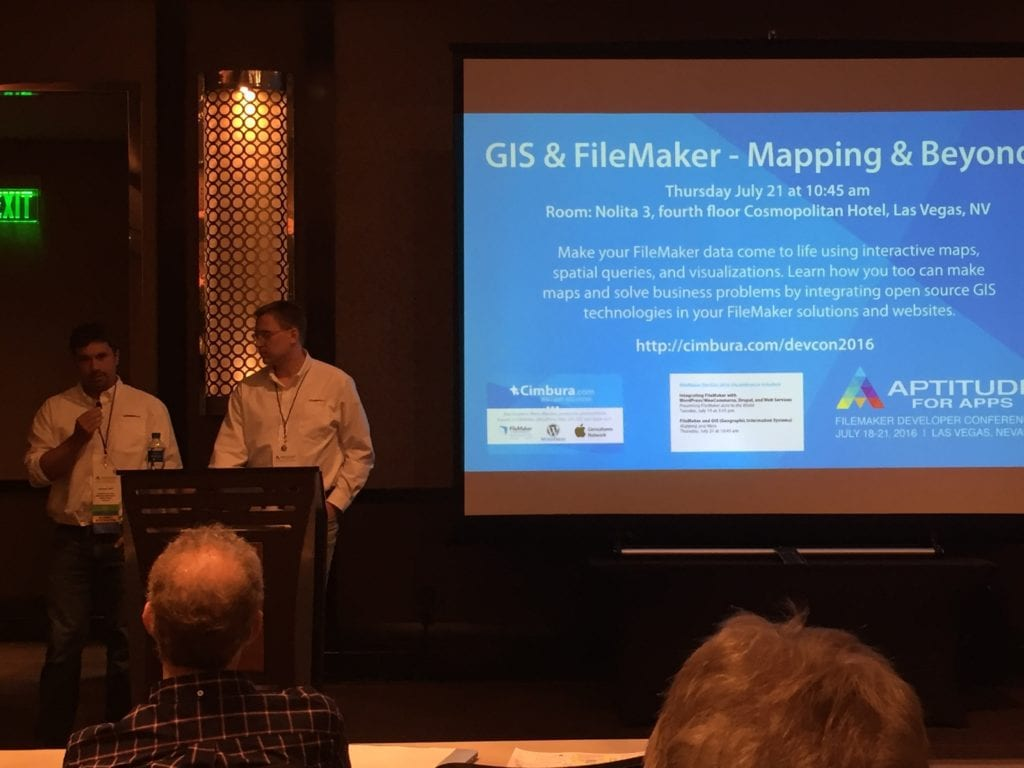 DevCon 2016 Andy and Michael GIS FileMaker