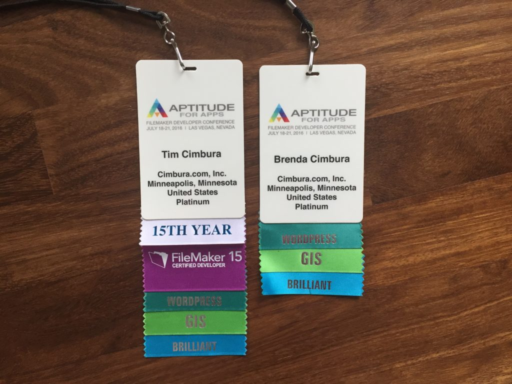 DevCon 2016 Tim and Brenda Name Tags