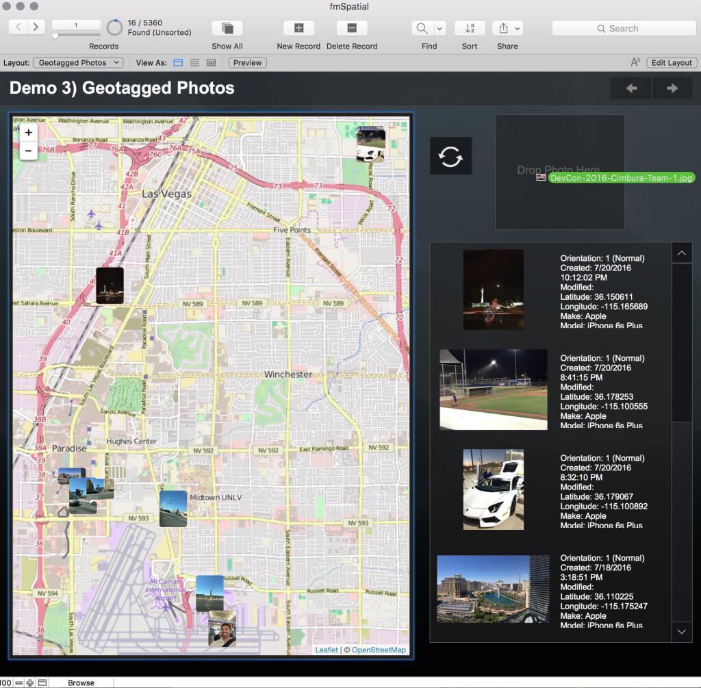 GeoTagged Photos Screenshot