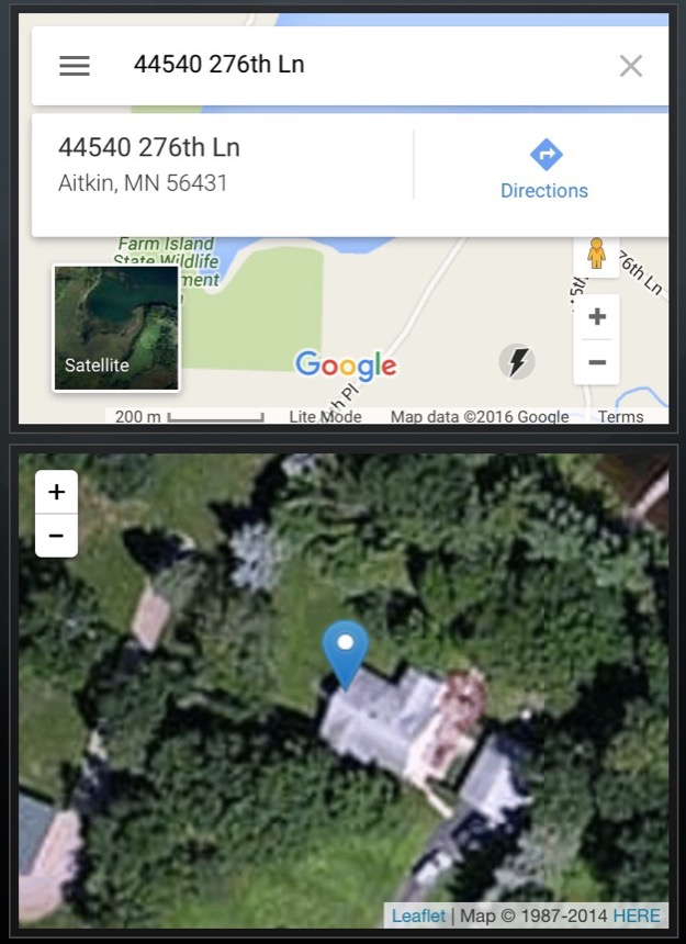Google-Leaflet-Comparison