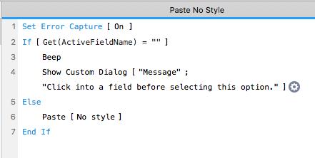 Paste No Style Script
