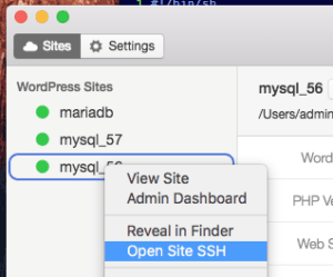 Open Site SSH