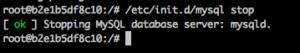 /etc/init.d/mysql stop