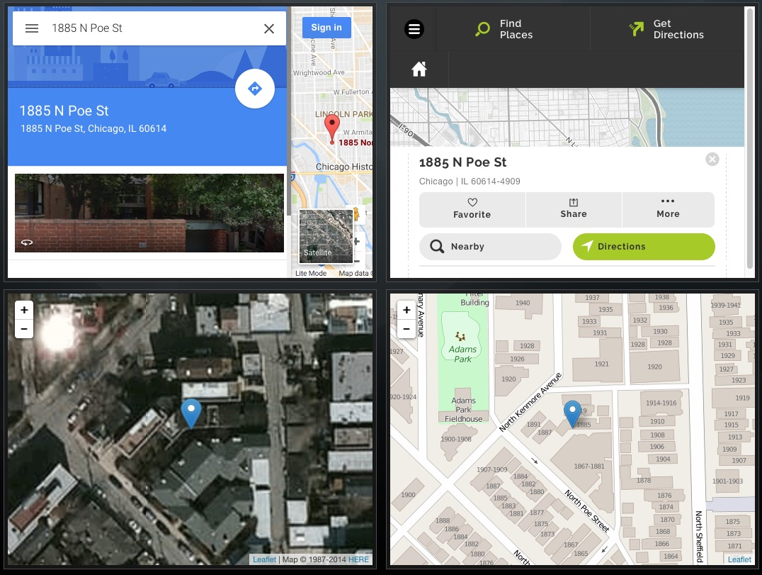 Comparison of Webviewer maps in FileMaker