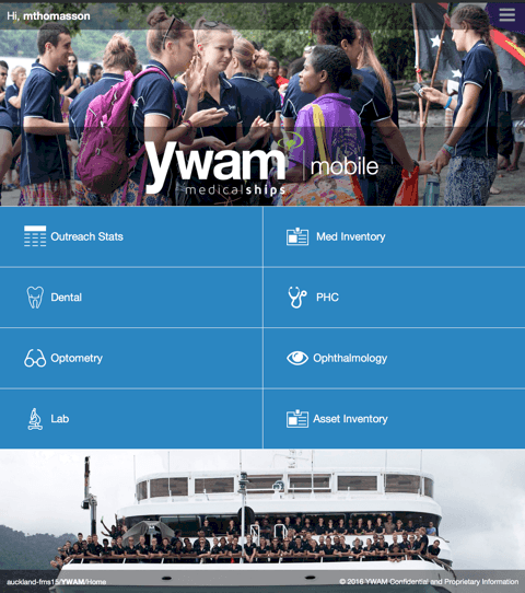 YWAM Mobile App Screen 1