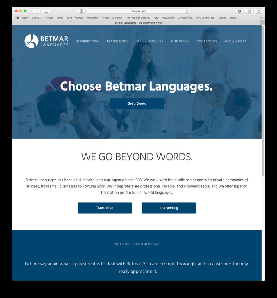 betmar-web-site