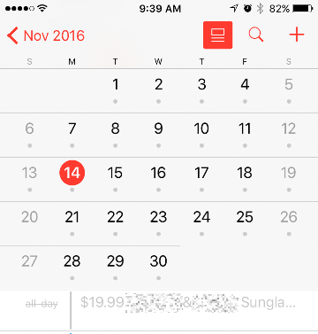 Calendar Spam Declined