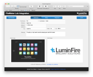 Send Real Printed Mail from FileMaker with Lob.com Integration