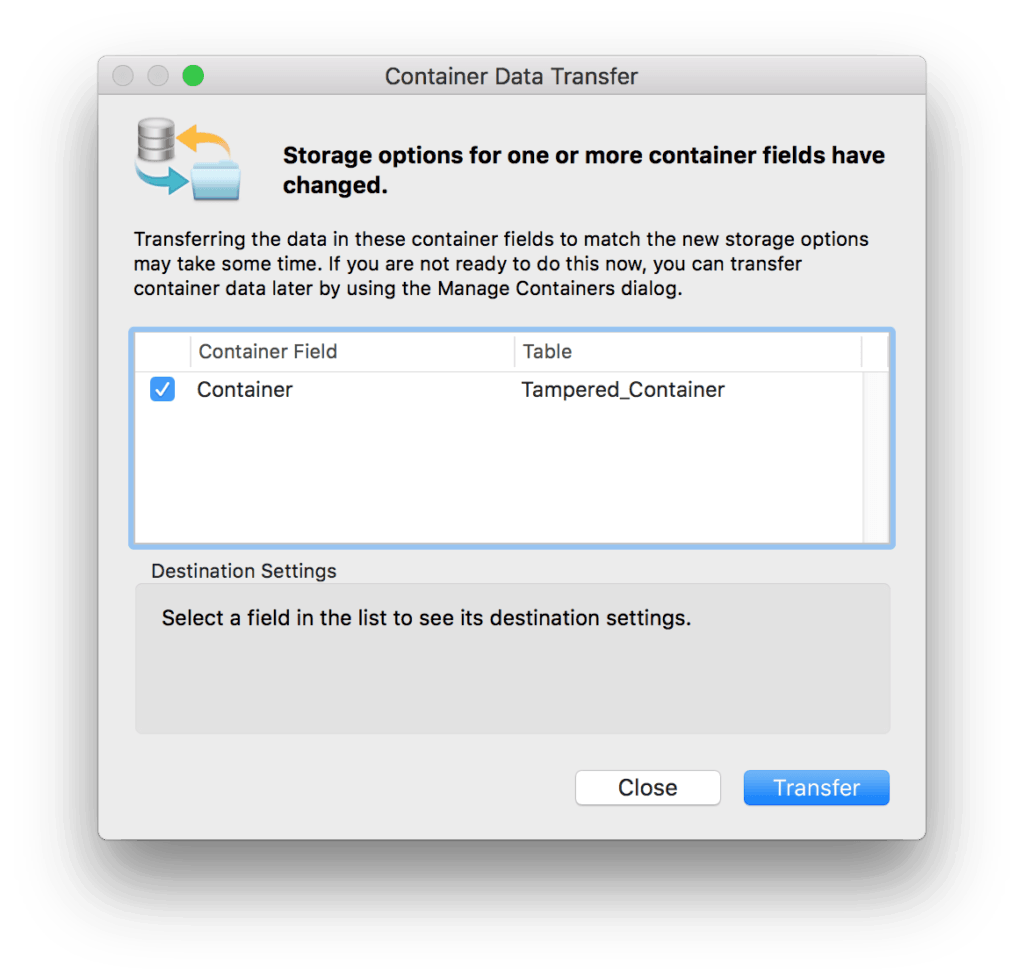 Dealing with Tampered Containers in FileMaker Pro 2