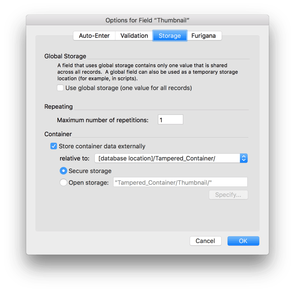 Dealing with Tampered Containers in FileMaker Pro 4