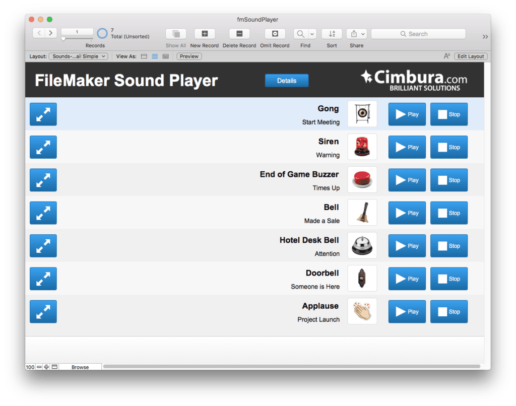 fmSoundPlayer Sound Effects on the Fly with FileMaker 2