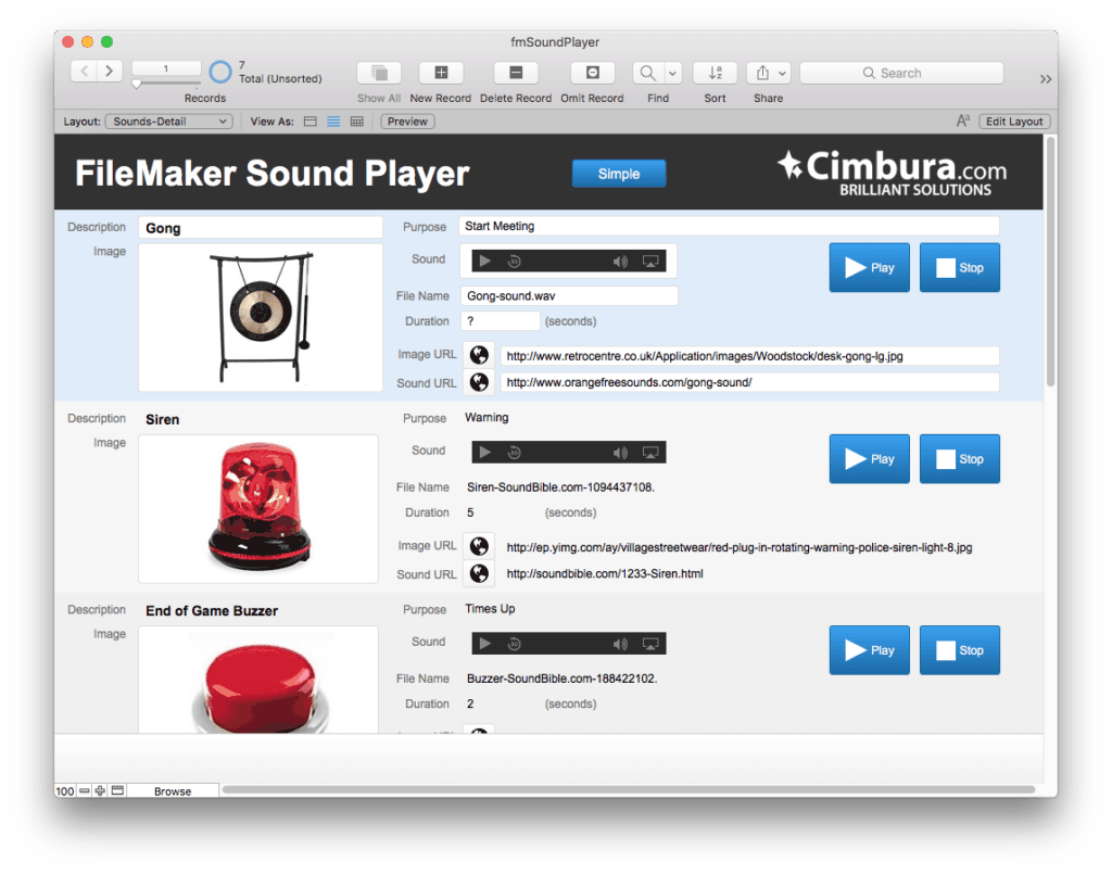 fmSoundPlayer Sound Effects on the Fly with FileMaker 4