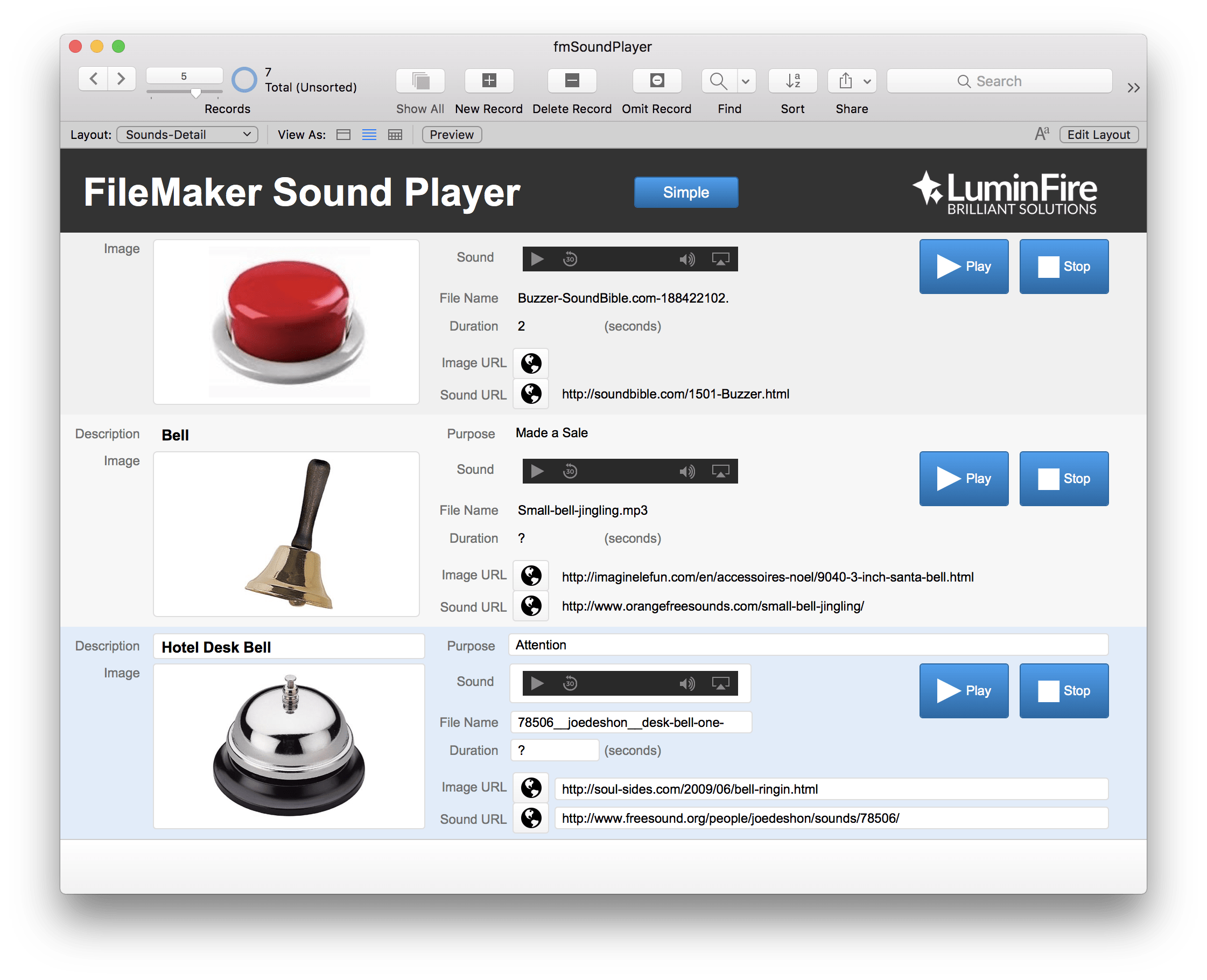 fmSoundPlayer Sound Effects on the Fly with FileMaker 6