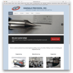 Oakdale Precision's New Web Site Bridges the Gap Between WordPress and FileMaker