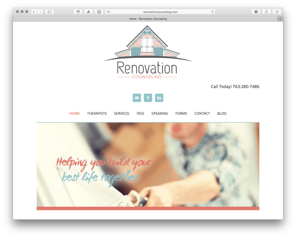 Renovation Counseling Increases Online Web Presence with Well Designed Website