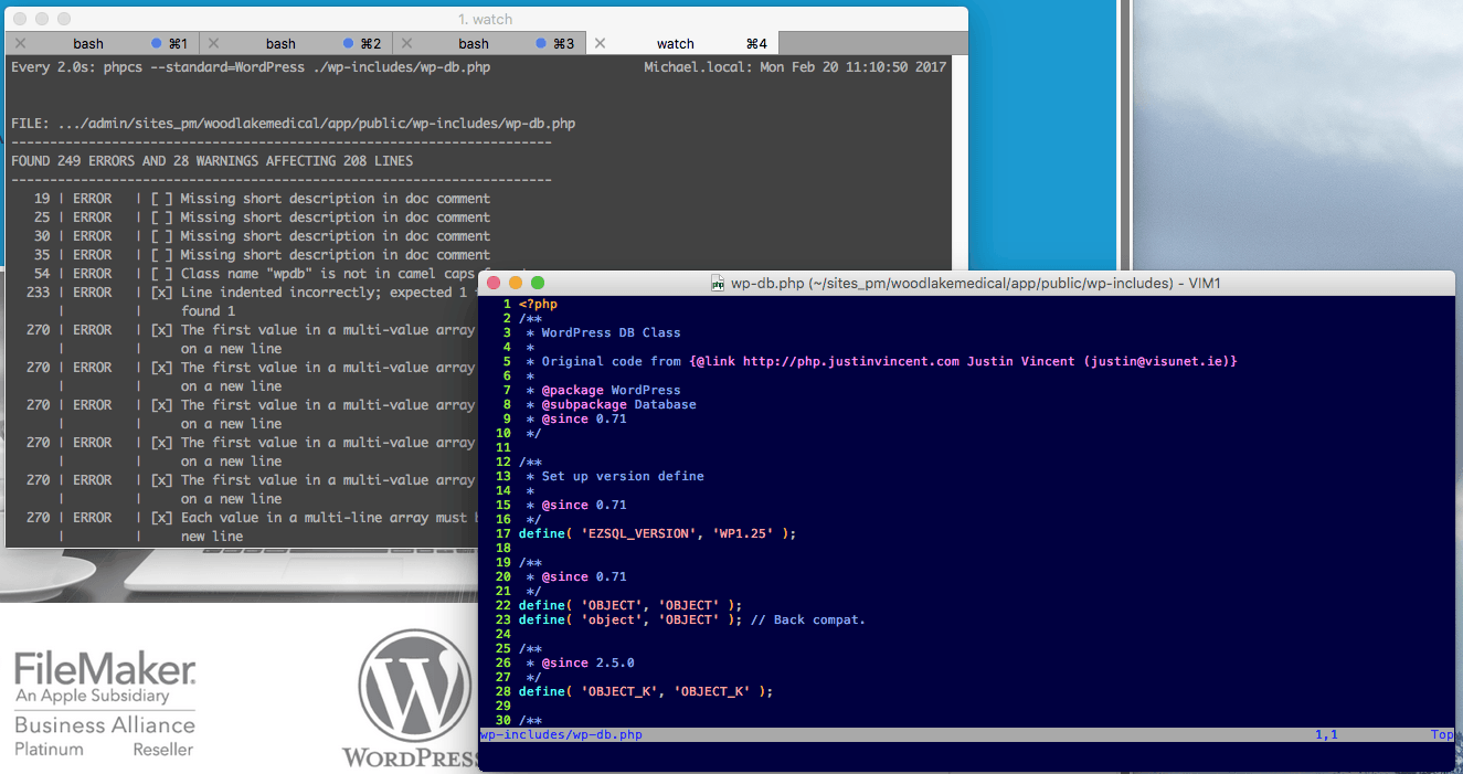 Running Phpcs With Watch In A Separate Terminal
