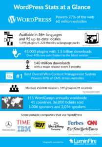 WordPress Stats at a Glance Infographic