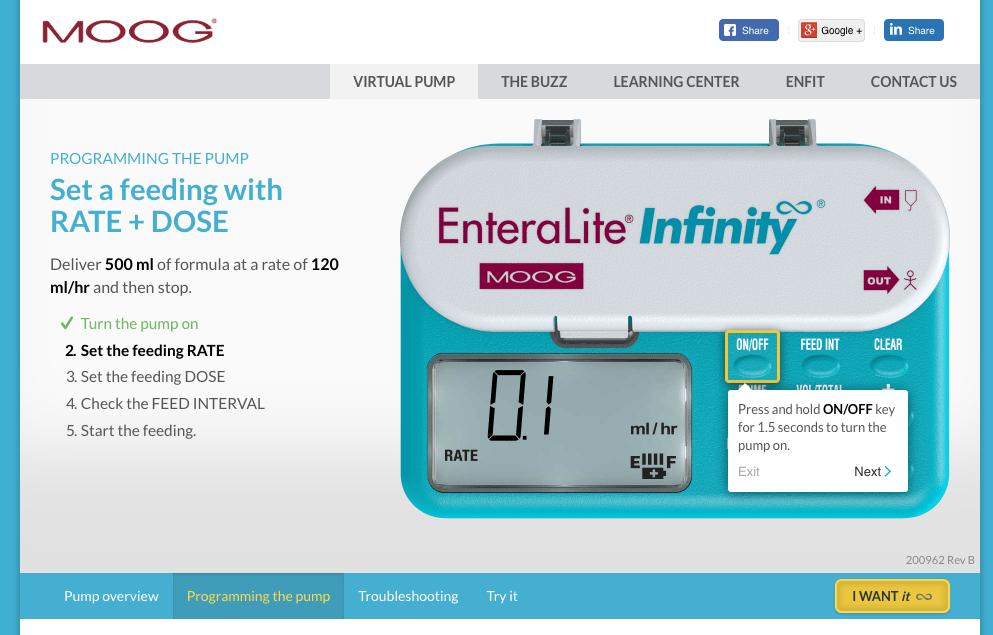 EntreaLite Infinity Pump 2