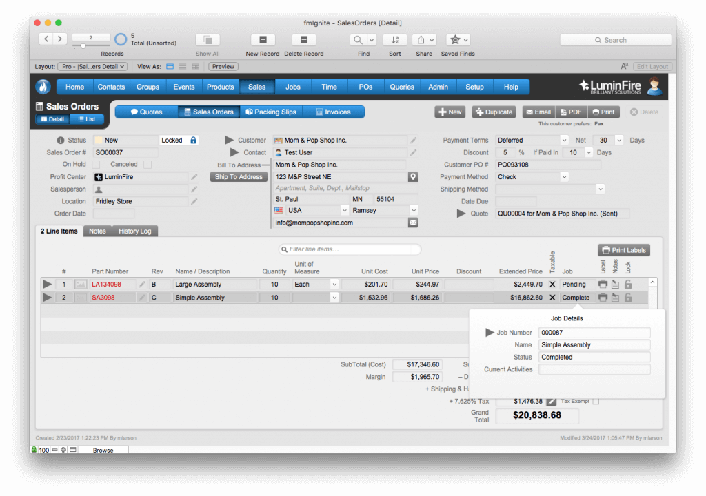 AeroFab Implements Improved FileMaker Solution Using fmIgnite 2
