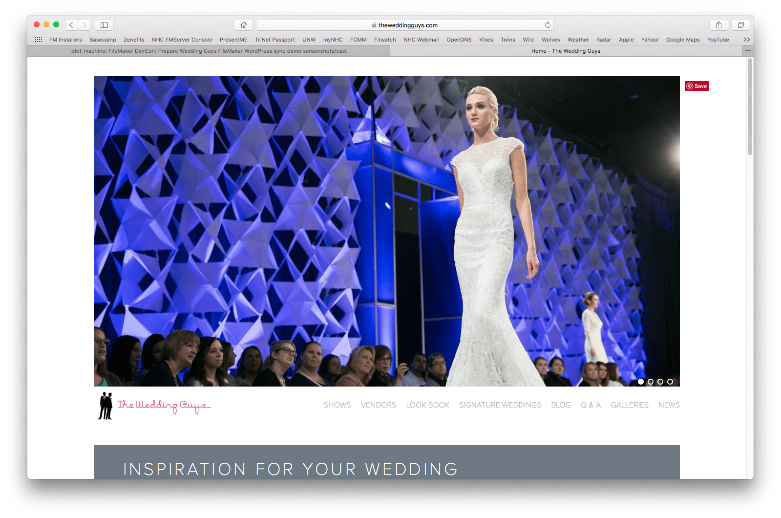 The Wedding Guys Dynamic Get a New Website with FileMaker Integration 2