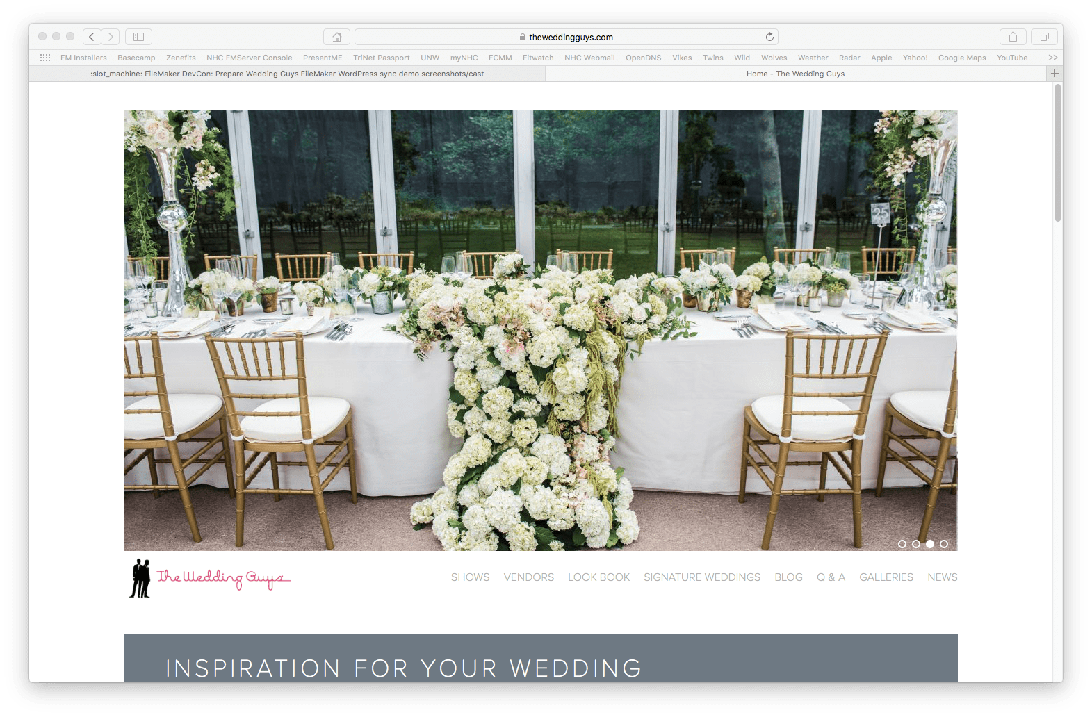 The Wedding Guys Dynamic Get a New Website with FileMaker Integration 3