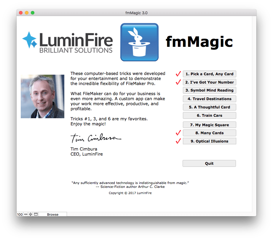 FileMaker-A Custom App that Performs Magic Tricks 4
