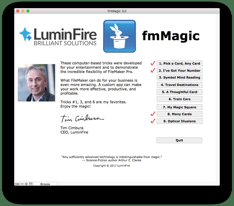 FileMaker-A Custom App that Performs Magic Tricks 4