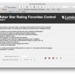 FileMaker Star Rating and Favorite Control