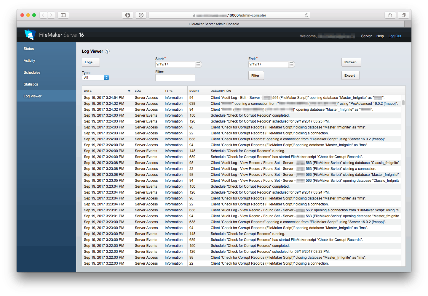 FileMaker Log Viewer - Make Log Files Less Painful