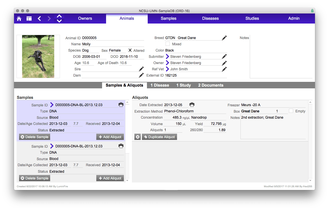 U of M Vet new custom app