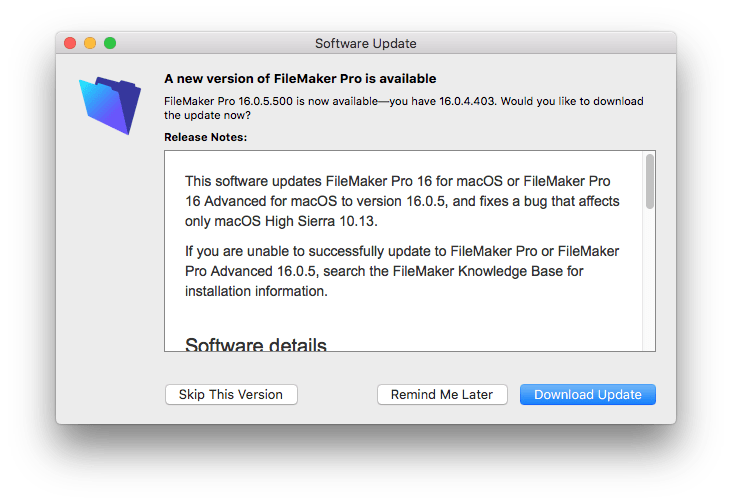 Deciding on When to Upgrade or Update FileMaker