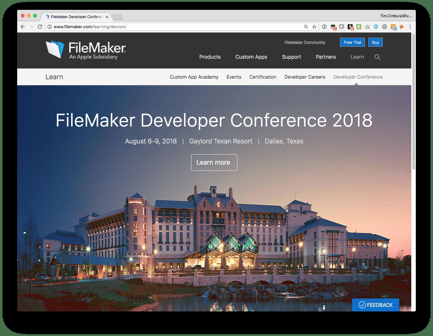 FileMaker DevCon (Developer Conference) 2018 2