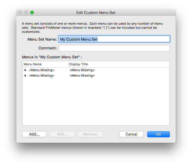 FileMaker 17 Lets You Copy and Paste Custom Menus and Custom Menu Sets Between Solutions