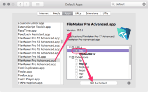 Opening the correct version of FileMaker Pro with FMP URLs on macOS