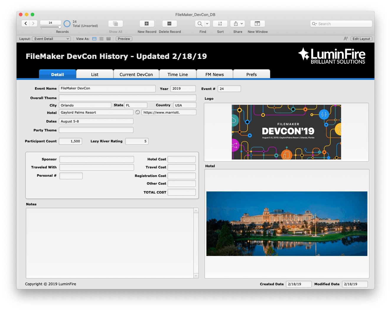 FileMaker DevCon 2019 - Developer Conference in Orlando - LuminFire