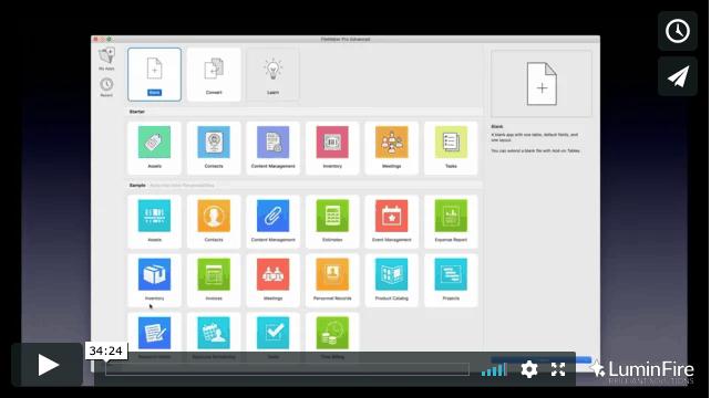 FileMaker Templates and Starter Solutions - LuminFire
