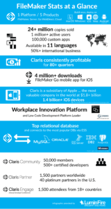 Claris FileMaker Statistics Infographic (2020)