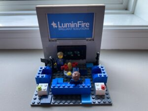 A LEGO Model of our LuminFire Office (and other COVID-19 Projects)